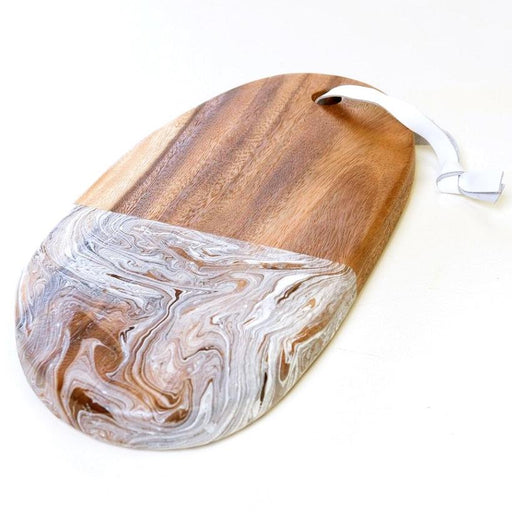 Mango Wood Marble Serving Board