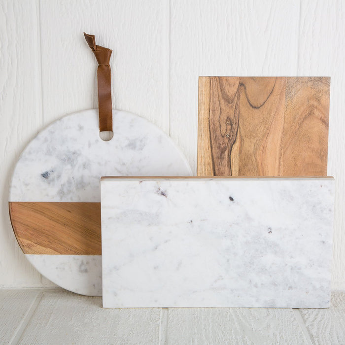 Marble and Wood Serving Board