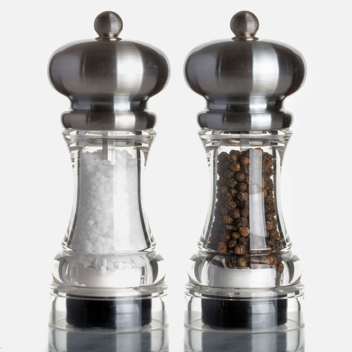 Marlux Acrylic Pepper Mill with Matte Stainless Steel Top (with peppercorns)