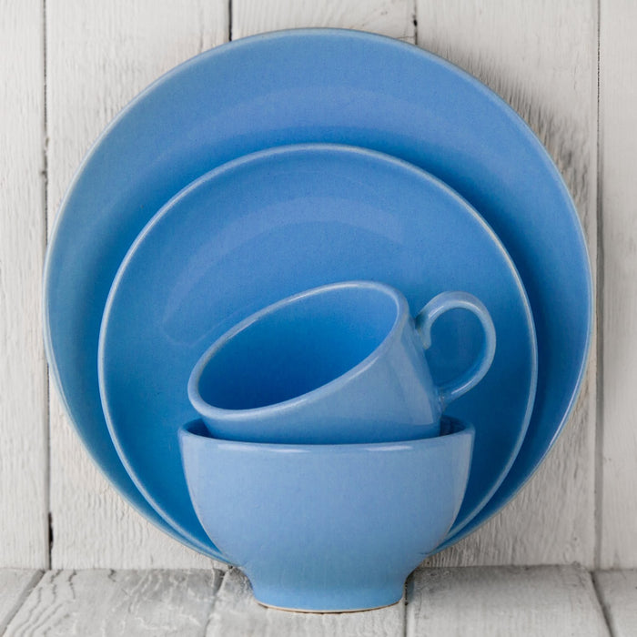"Medium Blue Ceramic Alfa Dinner Plate (10.5""⌀)"