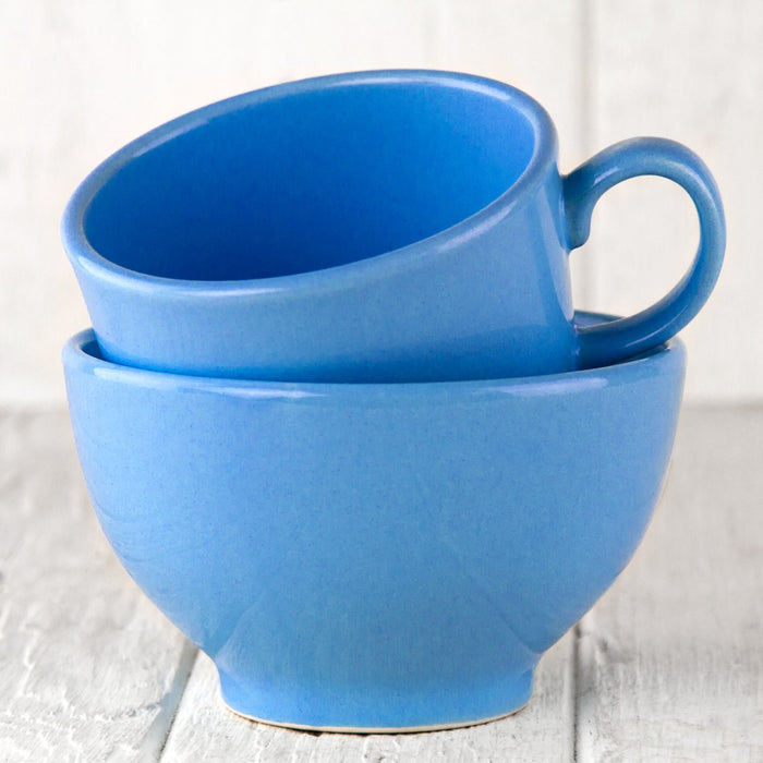 "Medium Blue Ceramic Alfa Mug (4.375""⌀)"