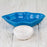 Medium Blue Ceramic Rose Serving Dish (4oz)