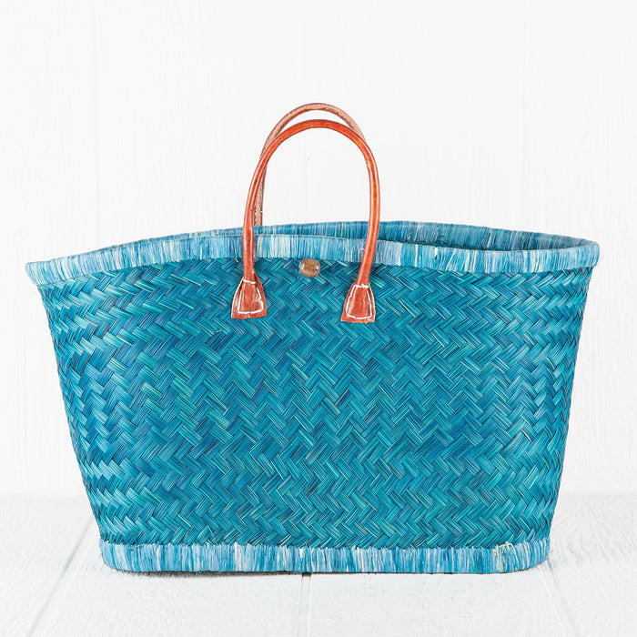 Medium Blue Market Basket