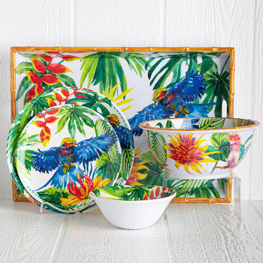 Melamine Tropical Dinnerware