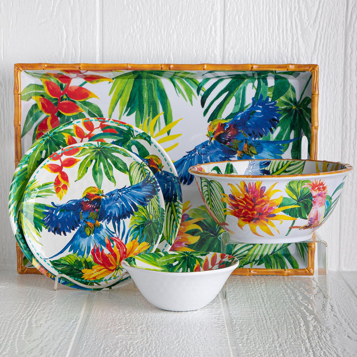 Melamine Tropical Serving Bowl
