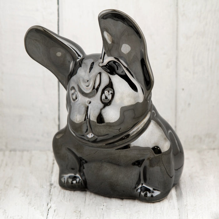Metallic Silver French Bulldog Figurine