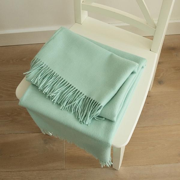 Mint Baby Alpaca Bella Throw Blanket