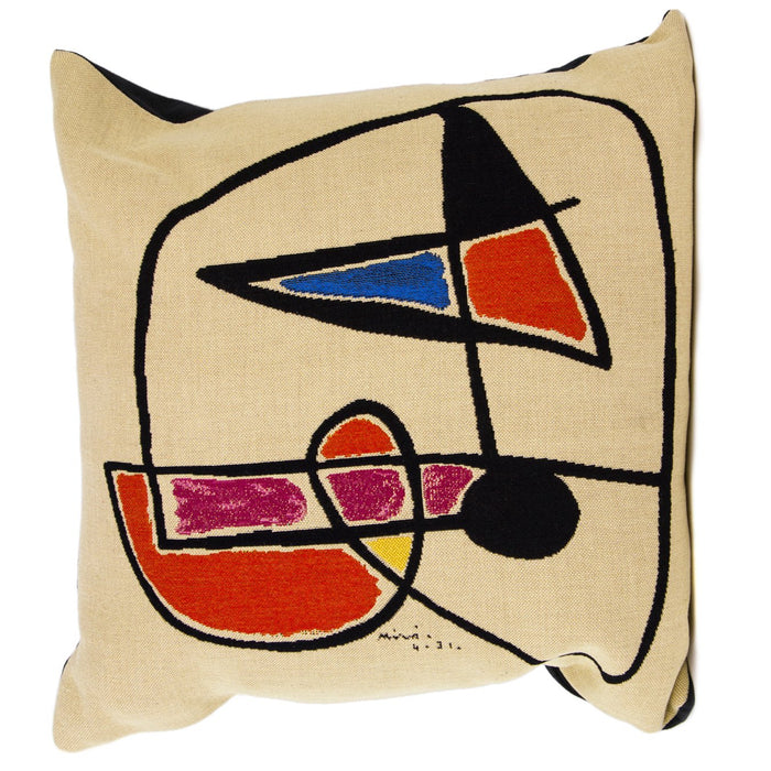 "Miro Tete d'Homme III Decorative Pillow (20"" x 20"")"