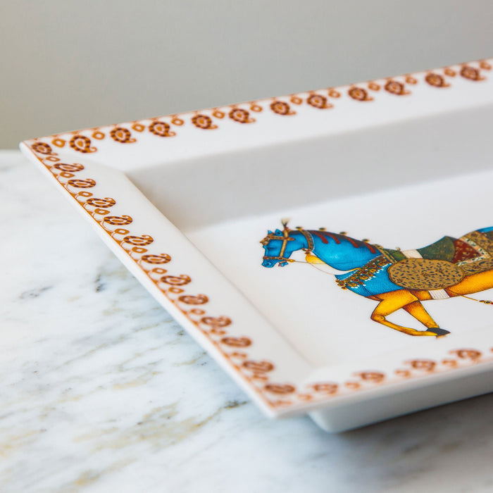 Moghul Garment Horse Decorative Tray