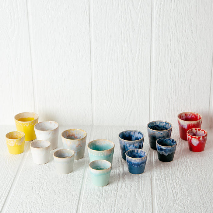 Multi Colored Stoneware 6oz Lungo Cups