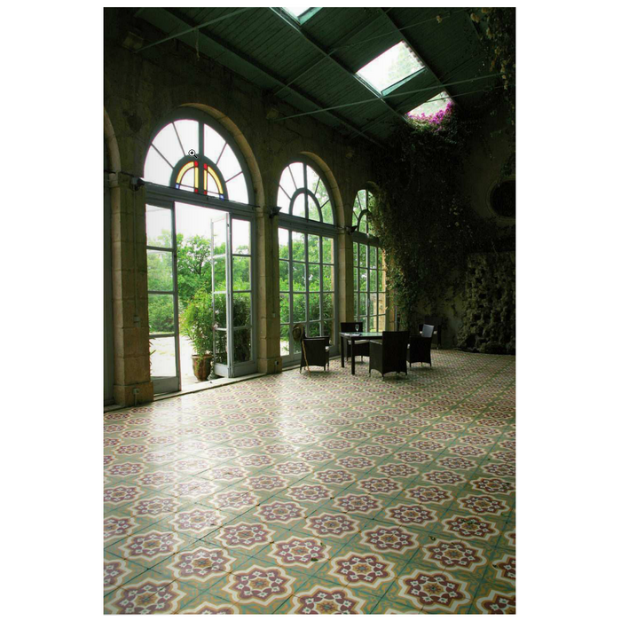 "Multi Lierre Clair Frise Carocim Tile (8"" x 8"") (pack of 12)"