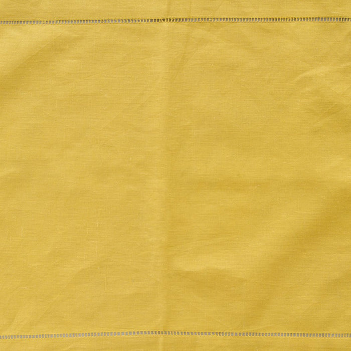 "Mustard Yellow 100% Linen Hemstitched Placemat (19.5"" x 14"")"