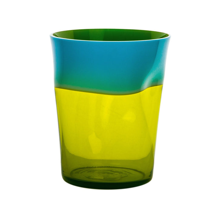 NasonMoretti Light Blue & Green Dandy Wine Tumbler
