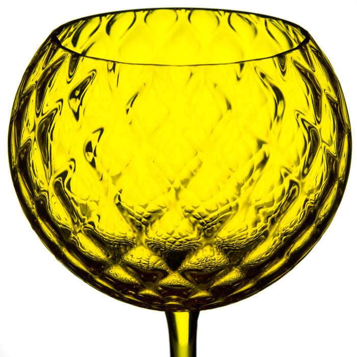 NasonMoretti Yellow Gigolo Wine Glass