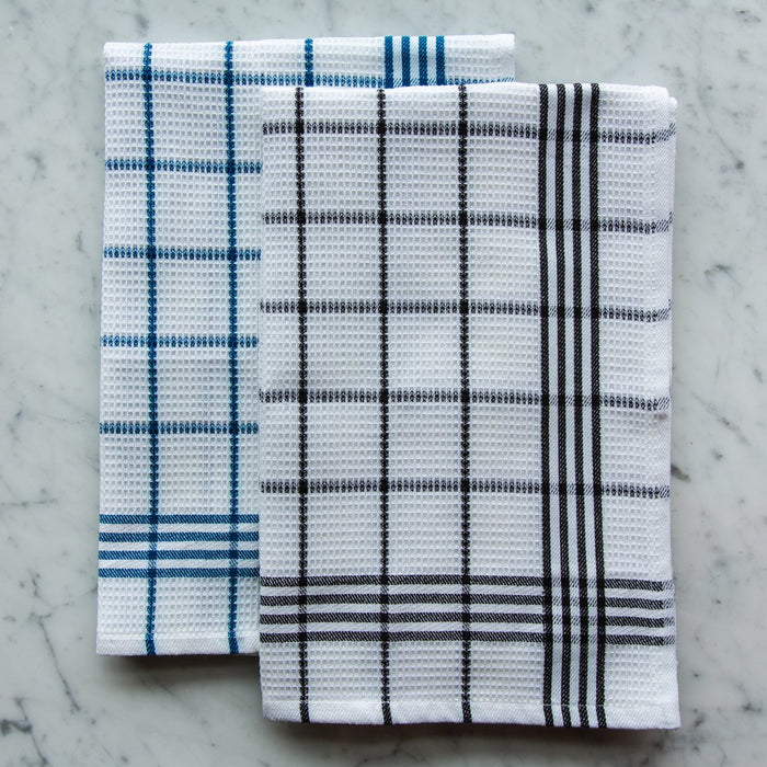 Navy & White Honeycomb 100% Cotton Pique Kitchen Towel