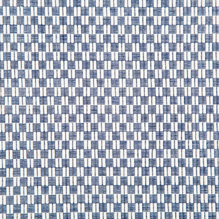 "Navy Checkered 100% Cotton Rep Weave Placemat (18.5"" x 13.25"")"