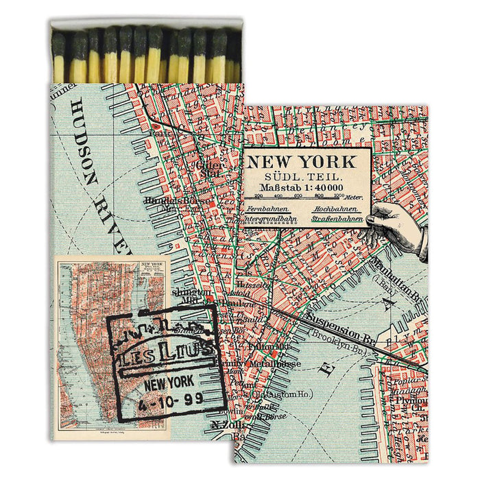 New York Map Matchbox
