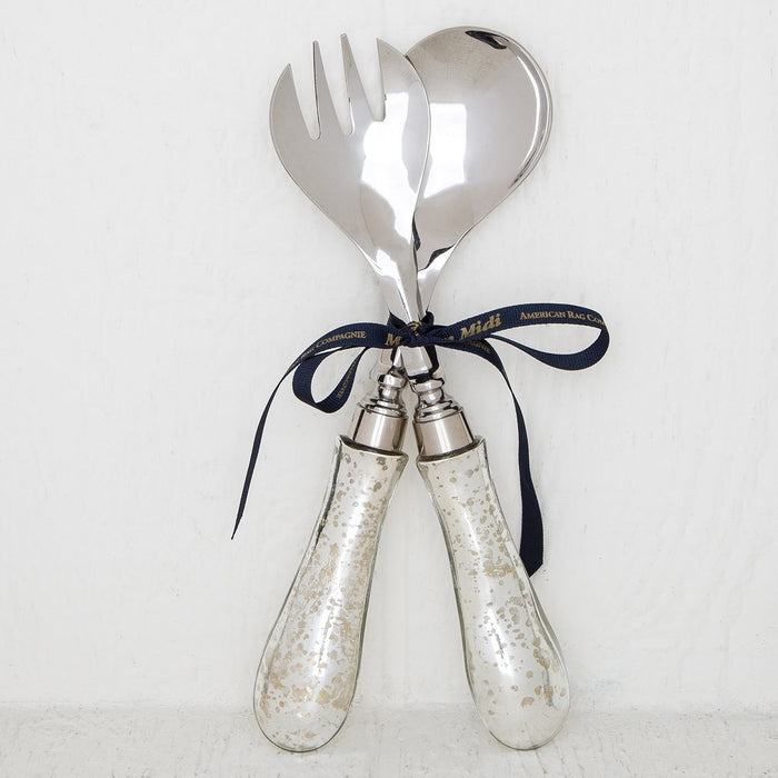 Nostalgic Glass Salad Servers