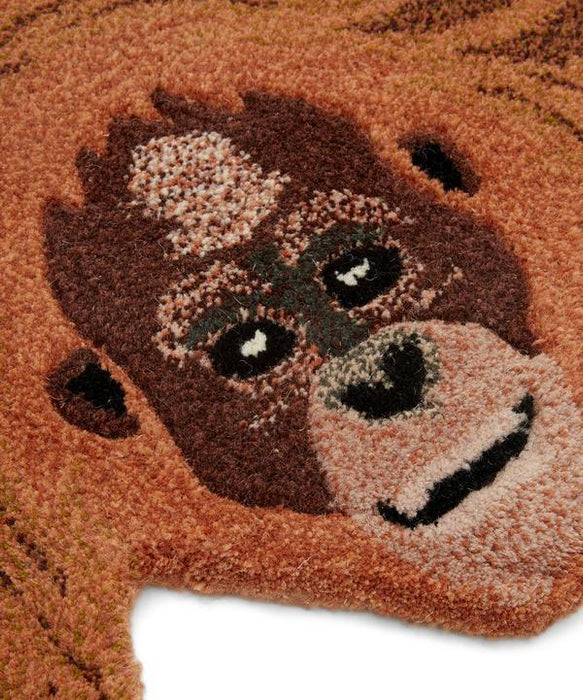 Oddly Orange Utan Animal Rug (Small)