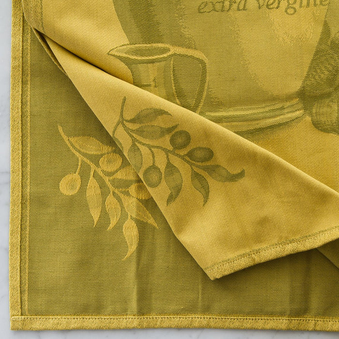 Olive Green Linen/Cotton Blend Tea Towel