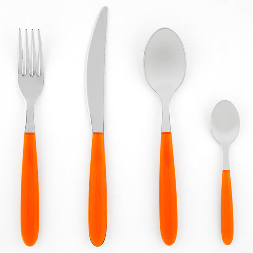 Orange 24 Piece Italian Place Setting