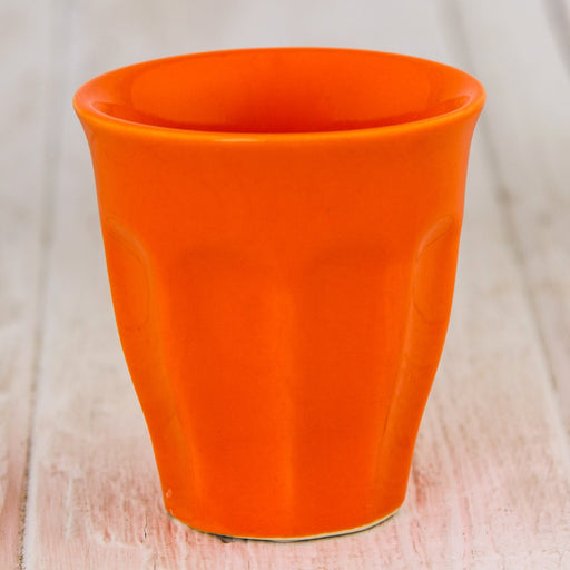 Orange 2oz Colorful Ceramic Mini Cup