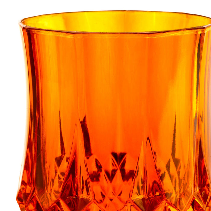 Orange Acrylic Diamond Goblet
