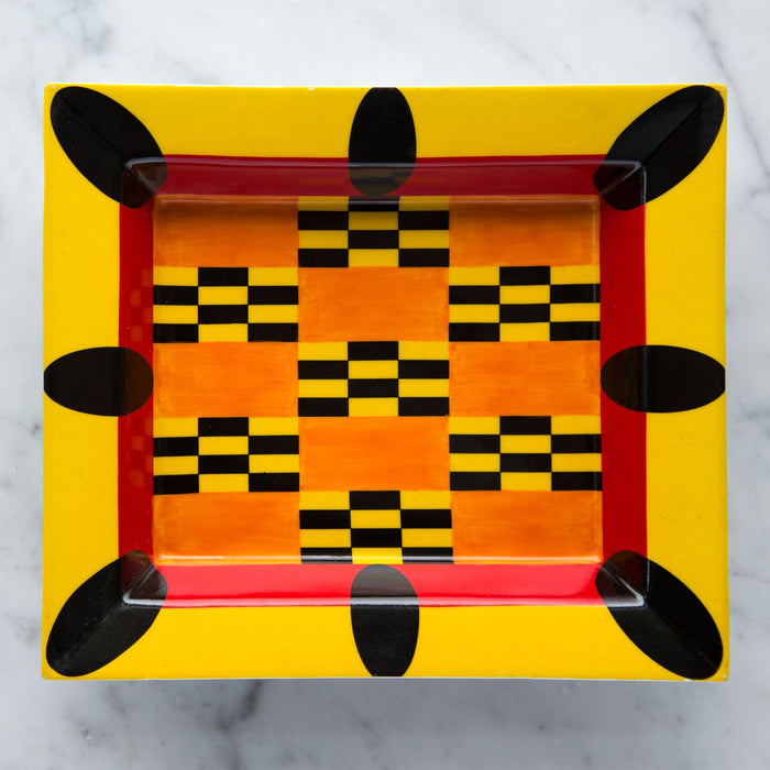 Orange Africa Decorative Tray