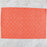 "Orange & White Fill 100% Cotton Rep Weave Placemat (19.25"" x 13"")"