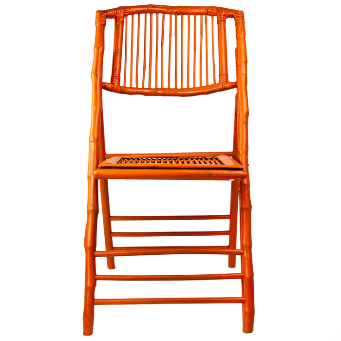 Orange Bamboo Folding Chair