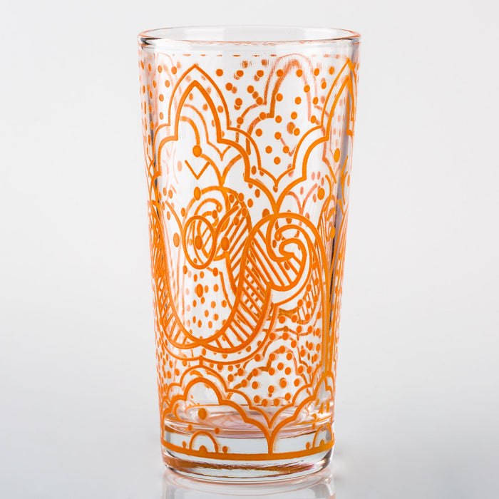 Orange Chiba Moroccan Water Glass