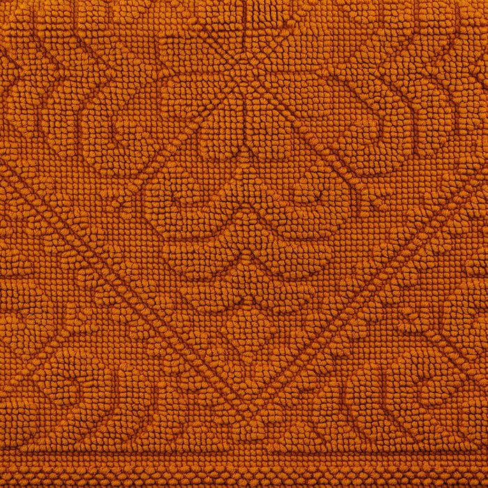 "Orange Cotton Bath Mat (43"" x 21"")"
