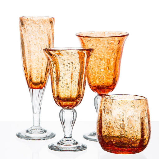 Orange French Hand Blown Barware