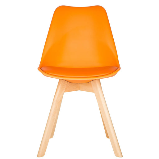 Orange Scandinavian Tulip Chair