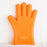 Orange Silicone Oven Mitt
