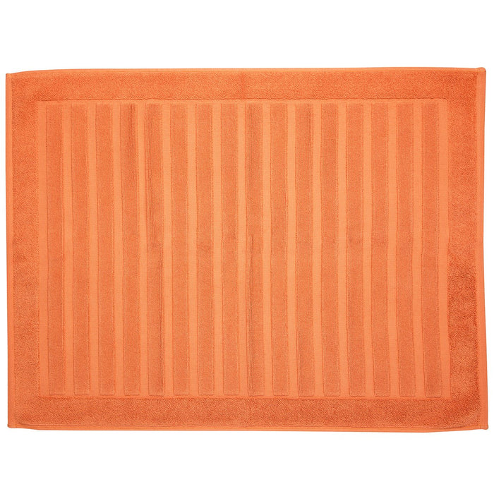 "Orange Striped Bath Mat (31x23"")"