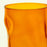 Orange Wavy Double Old Fashioned Short Glass