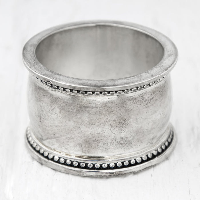 Oval Silver Napkin Ring