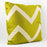 "Paisley Green Chevron Cotton Pillow (24"" x 24"")"