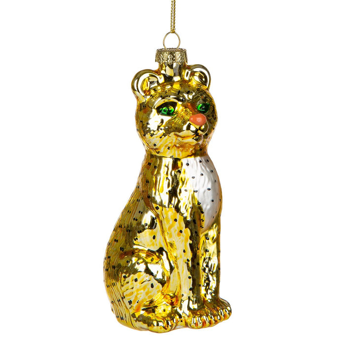Panther Glass Ornament