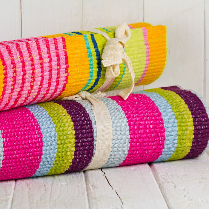 Parasol Striped Cotton Rug