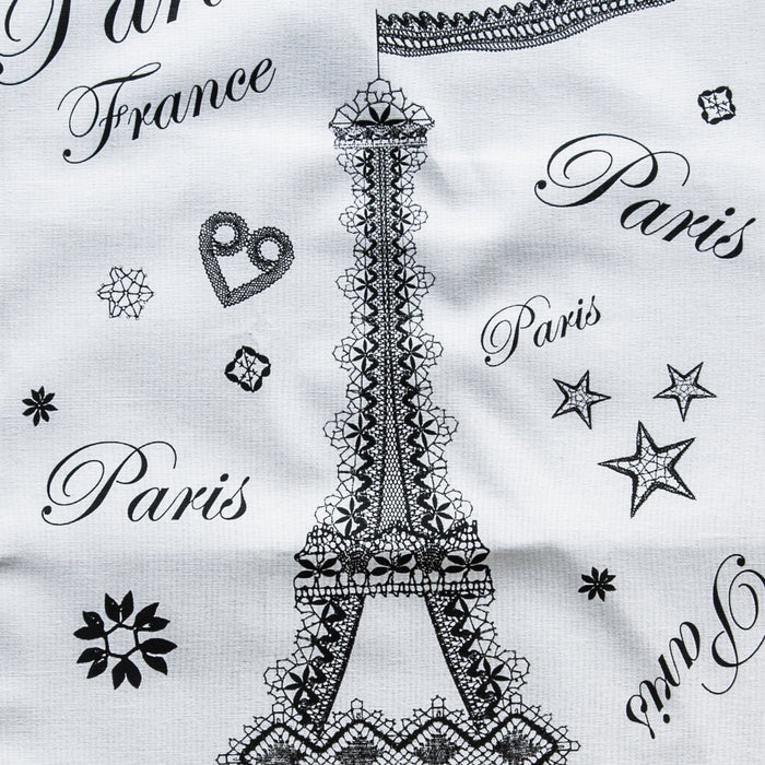 Paris White & Black 100% Durable Cotton Tea Towel