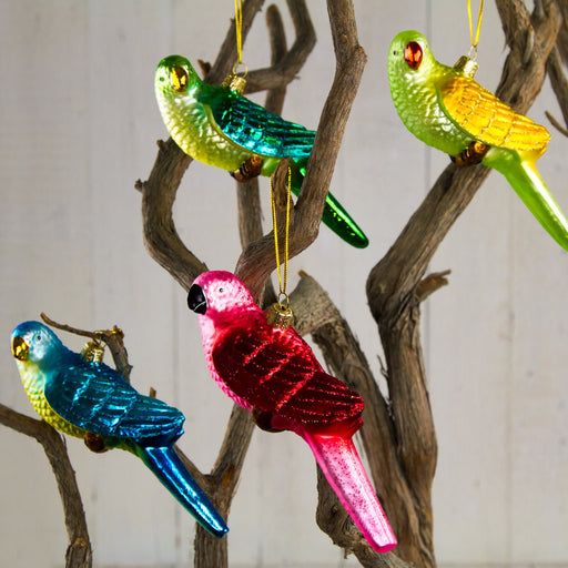 Parrot Glass Ornaments