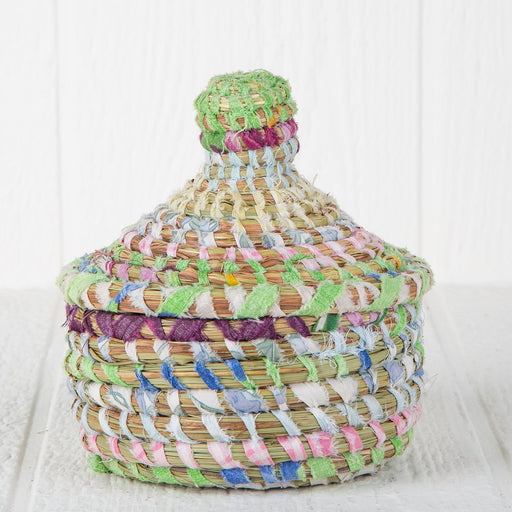 "Pastel African Nesting Box With Lid - Medium (5.5""h)"