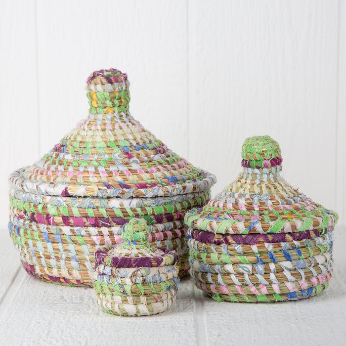 Pastel African Nesting Boxes With Lid