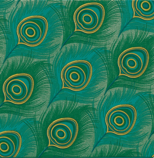 "Peacock Paper Napkins (8"")"