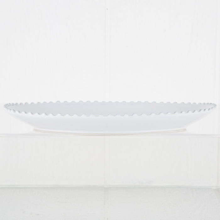 Pearl Stoneware Oval Serving Dish