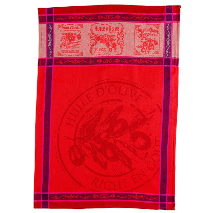 Picholine French Kitchen Towel (Red)