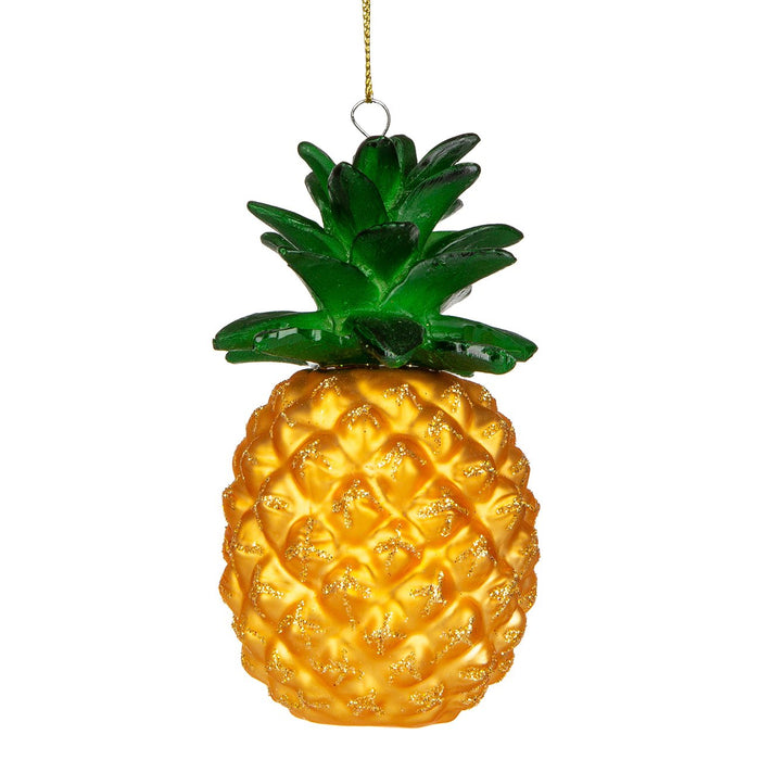 Pineapple Glass Ornament