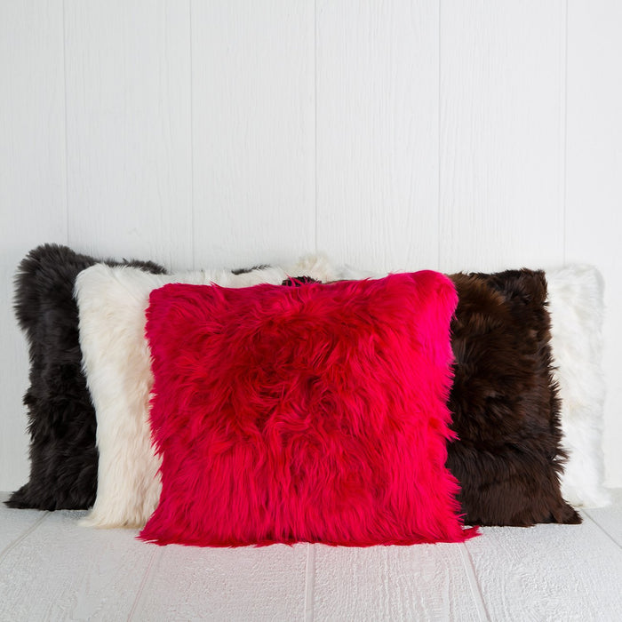 Pink Alpaca Pillow